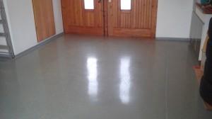 Bodenbeschichtung in einer Garage